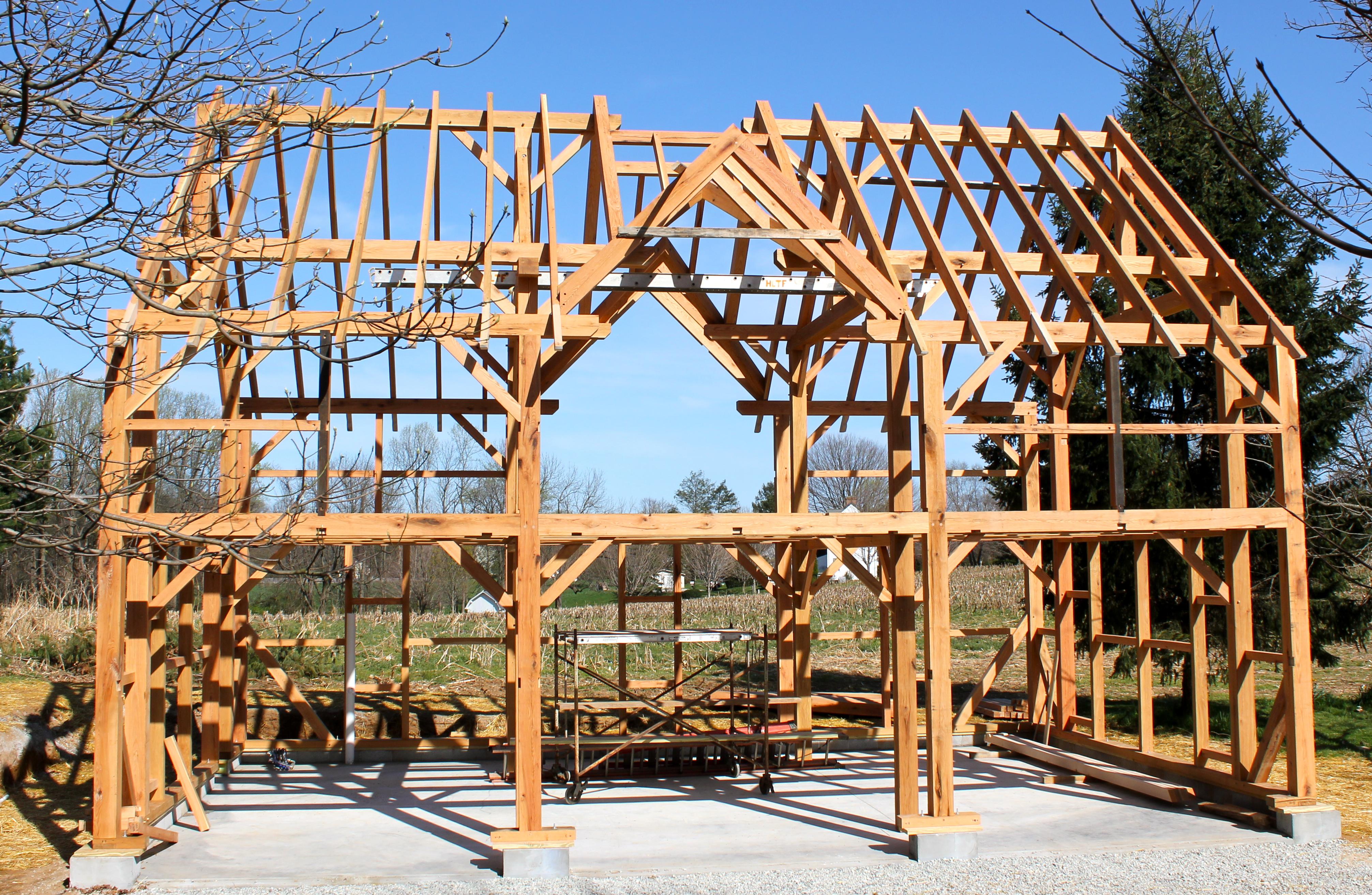 Timber Framed Carriage Shed Raising - Hugh Lofting Timber