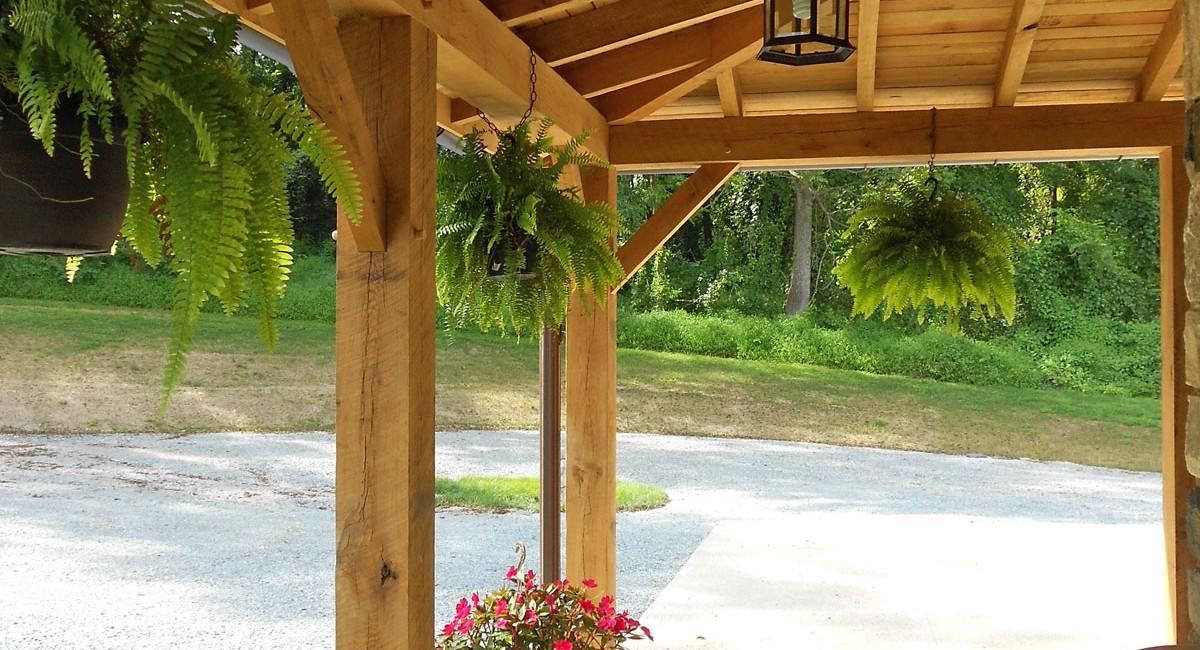 Timber Frame Hybrid House