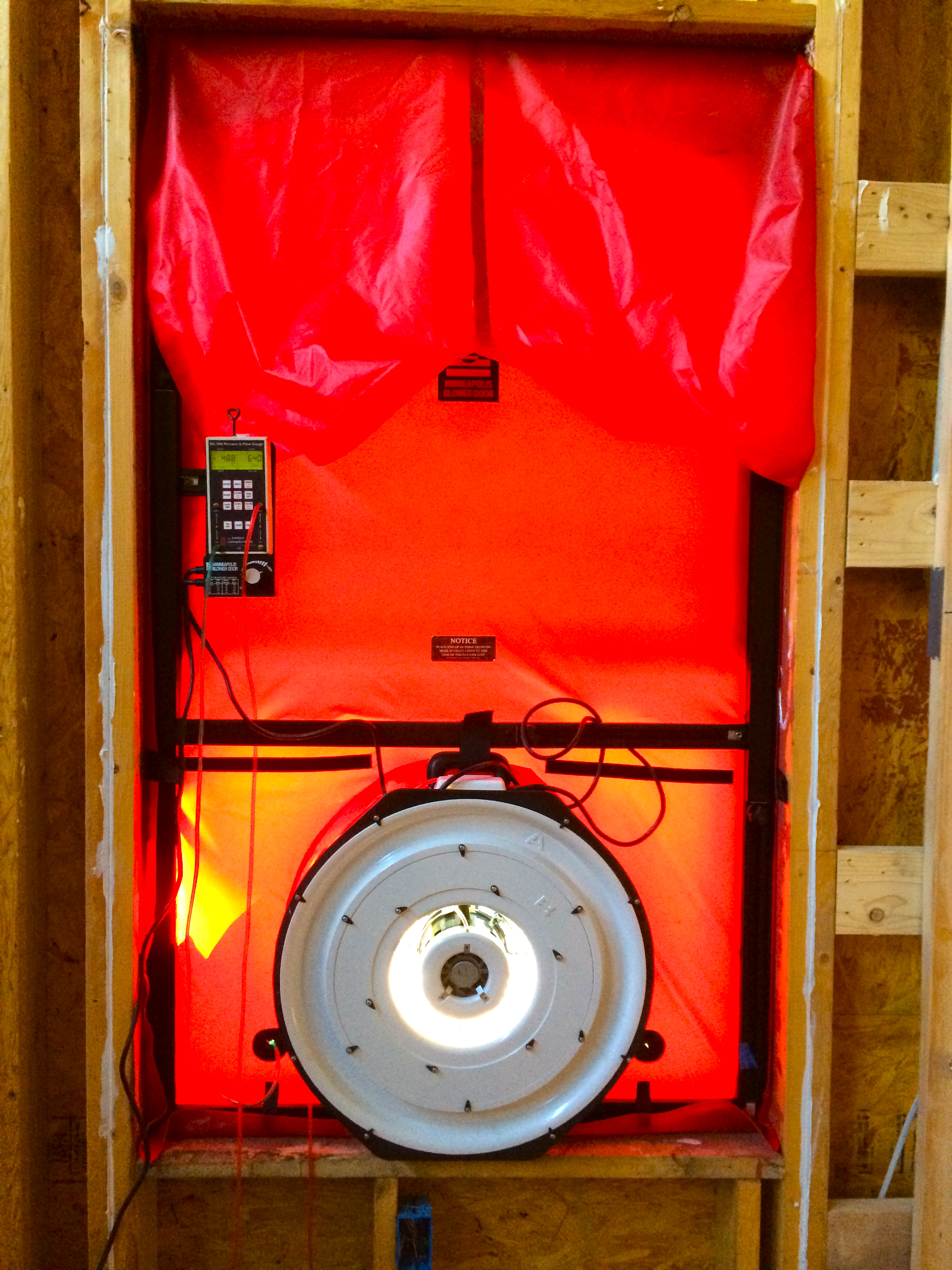 Kamp Kaolin Blower Door Test